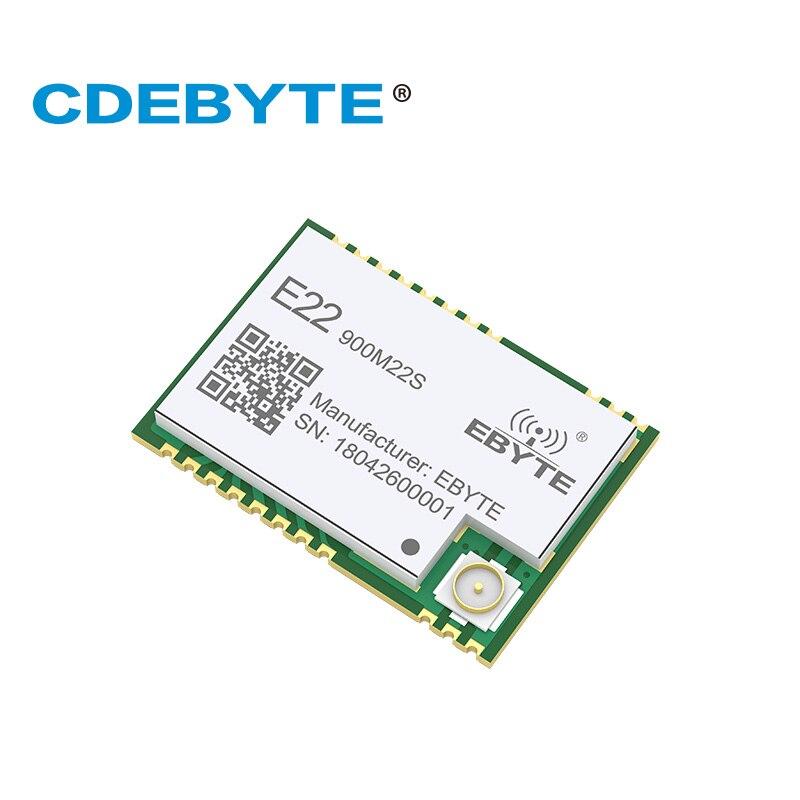 E22-900M22S Ultra Niedrigen Verbrauch Neue Chip SX1262 850 ~ 930 mhz 160 mw IPX Stempel Loch Antenne IoT uhf Wireless transceiver 915 mhz