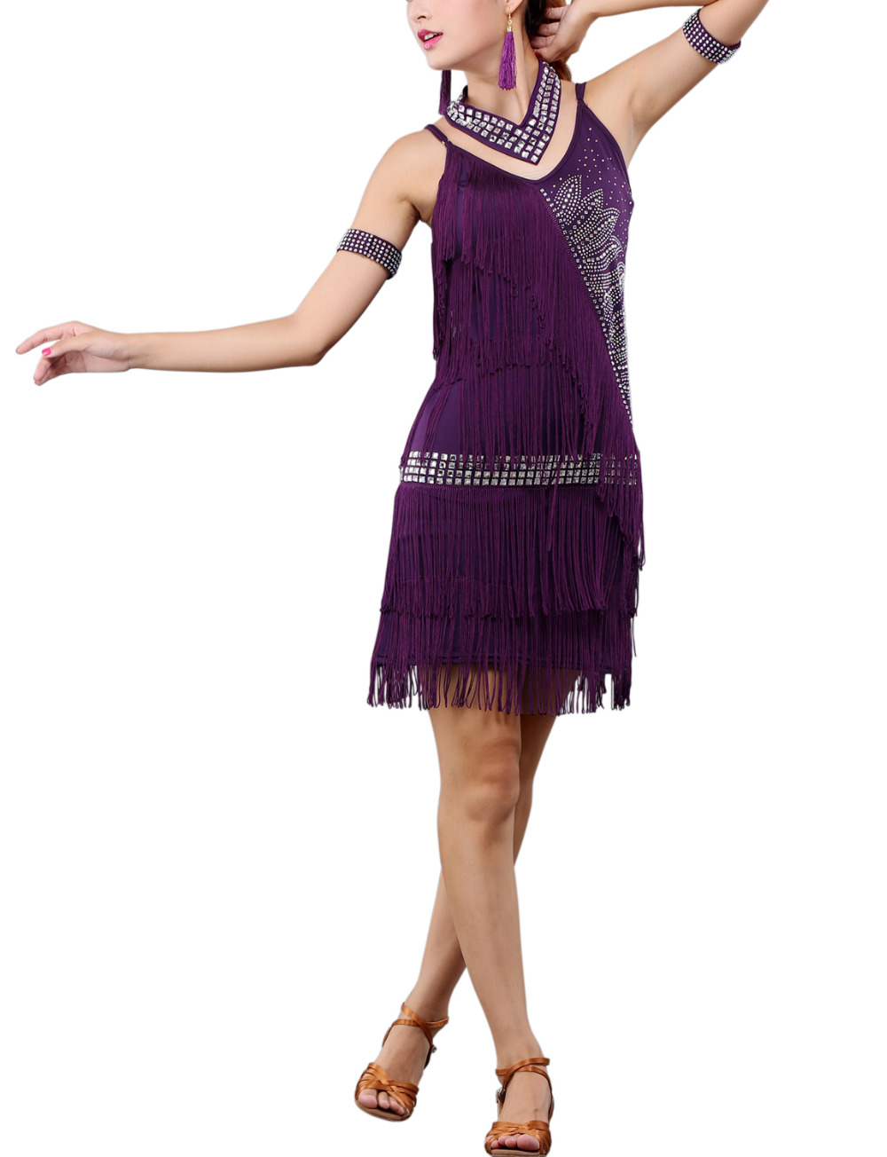 d312b329715 Whitewed 20 s Drop Waist Fringe Beaded Great Gatsby flapper Era Style  Dresses Clothing Clothes Costume Outfit-in Dresses from Women s Clothing on  ...