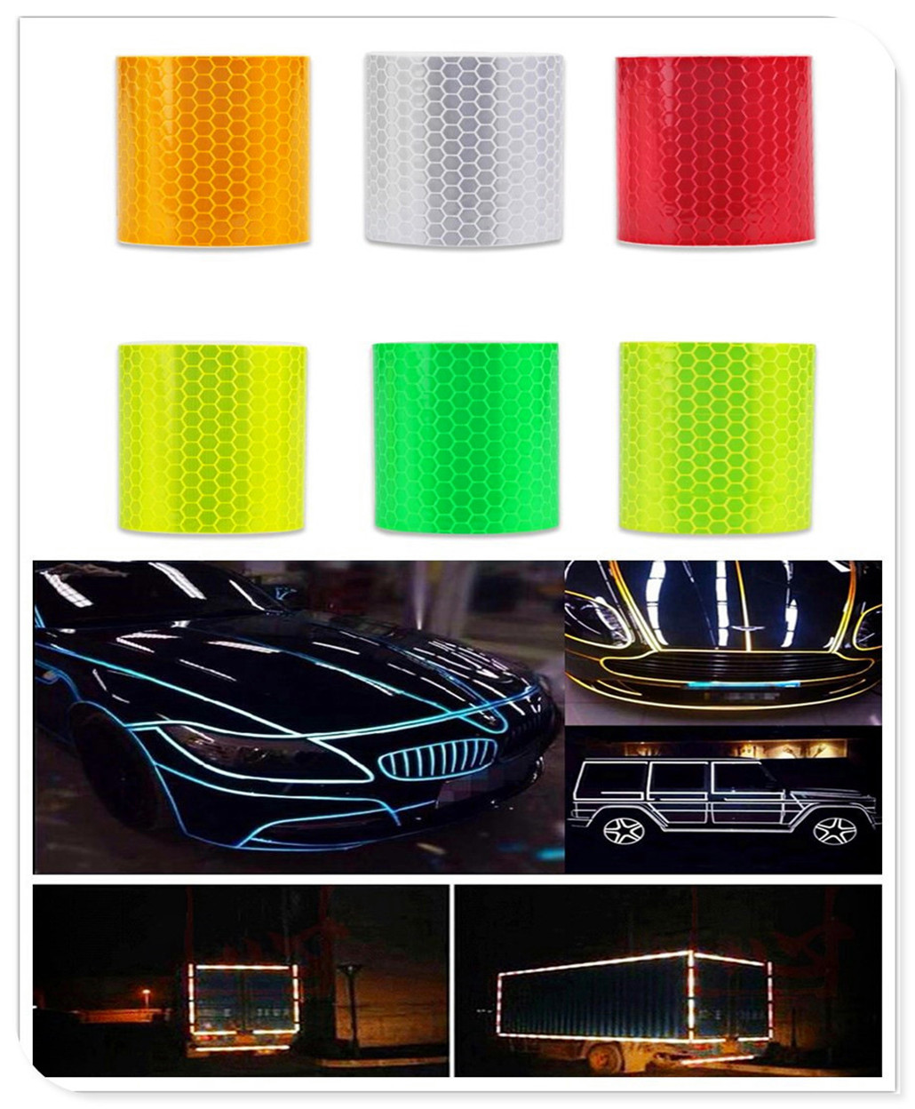 Car Accessories Reflective Sticker Decal Warning Tape Film for Chevrolet Cobalt Celta West Uplander Cavalier Astra
