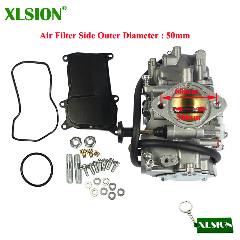 XLSION Carburetor For Yamaha ATVs BIG BEAR 350 YFM350 2WD 4WD WARRIOR 350 YFM350 KODIAK 400