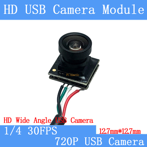 12,7*12,7 мм HD 720P широкоугольный видео наблюдения UVC 30FPS USB камера мини usb модуль печатная плата системы видеонаблюдения CMOS Windows pc веб-камера