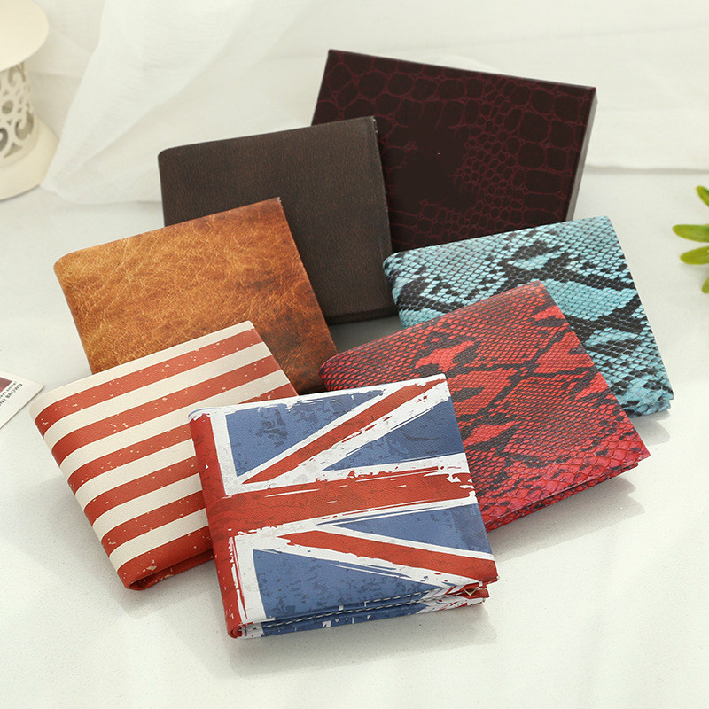 2016 Funny Novel new Men Wallet Pockets Card US UK flat Dollar Bill student Money clip Wallet BIFOLD women short cheap purse