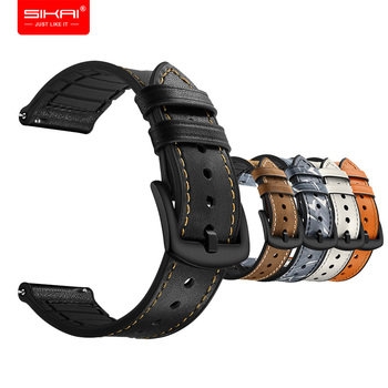 Smart Watches Strap for Amazfit bip GTS ticwatch E 2 20mm Wristbands Band Leather Silicone bracelet SIKAI accesorios