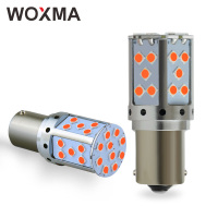 WOXMA P21W Canbus LED Bulb PY21W Car BA15S Led Lights BAU15S 19W 1156 3030 SMD Amber