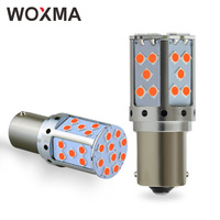 WOXMA P21W Canbus LED Bulb PY21W Car BA15S led Lights BAU15S 19W 1156 3030 SMD Amber White DRL Auto Turn Signal Bulb Brake Lamps
