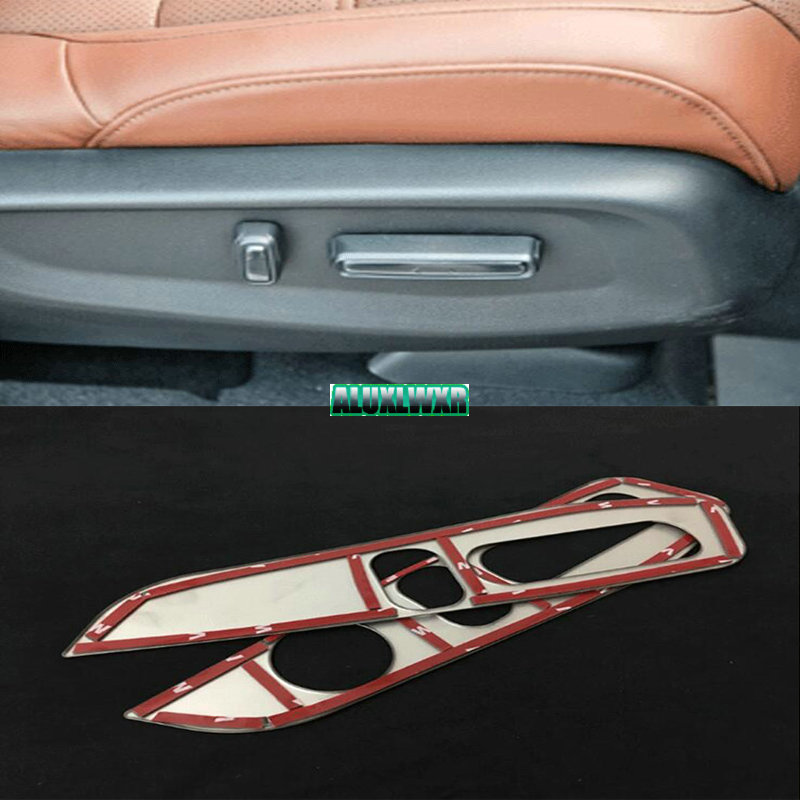 car-styling fit for Honda <font><b>CRV</b></font> CR-V 2017 2018 <font><b>seat</b></font> adjustment panel decoration cover trim car Accessories automobiles accessory