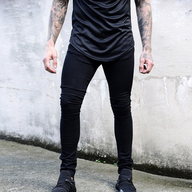 HEFLASHOR Skinny Jeans For Men Blue Hip Hop Long Stretch Jeans Hombre Slim  Fashion Ankle Tight Streetwear Male Pants