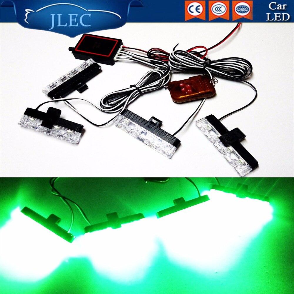2017 Car Styling 4X4LED 12V 16W Flashing Dash Strobe Lightbar with Remote Control Automobiles 16 LED DRL Mini Emergency Lightbar
