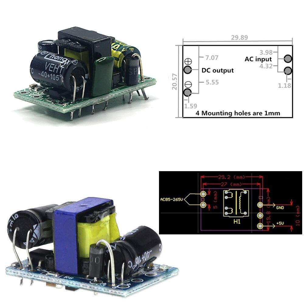 NEW DIY Kit 5V 800mA Regulated Power Supply Units Precise AC-DC 220V to 5V