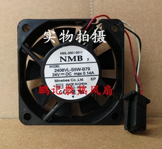 NMB-MAT 2406VL-S5W-B79 BE1 Server Square Fan DC 24V 0.14A 60x60x15mm 3-wire вентилятор напольный aeg vl 5569 s lb 80 вт