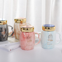 The Marbling Mug,four design Ceramic cup With a lid ,coffee cup,office and home milk and te glass,Mug for lovers