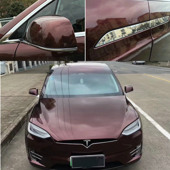 Luxury Black Rose Gloss Metallic Vinyl Wrap For Car Wrap DIY Styling Vehicle Foil With Air Bubble Free :1.52*20M/Roll 5x65ft