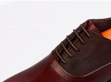 QYFCIOUFU Lace Up Men Dress Oxfords Shoe Genuine Leather Luxury Brand Office Formal Pointed Toe Fashion Splice Mens Wedding Shoe