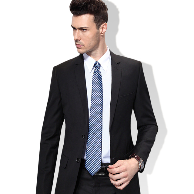 542a522c02 Men s suits work wear formal commercial slim male married suit groom wear  work suit set Blazer and pants