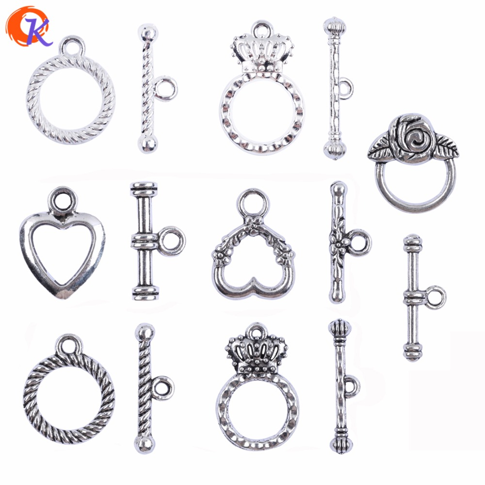 Jewelry Findings Component Silver Plated OT Connector Accessories Parts Toggle Clasps For Handmade DIY Jewelry Accessories