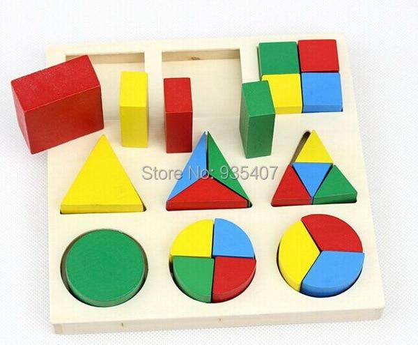 Koka rotaļlietas Lietišķā diagramma Agrīnās bērnības izlūkošanas rezultāti disku ģeometrijas ģeometriskās puzzle demontāžas palīglīdzekļi