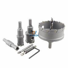 цена на High-grade Carbide Tip HSS Drills Bit Hole Saw Set Stainless Steel Metal high range Superhard Alloy hole saw set 27-53mm