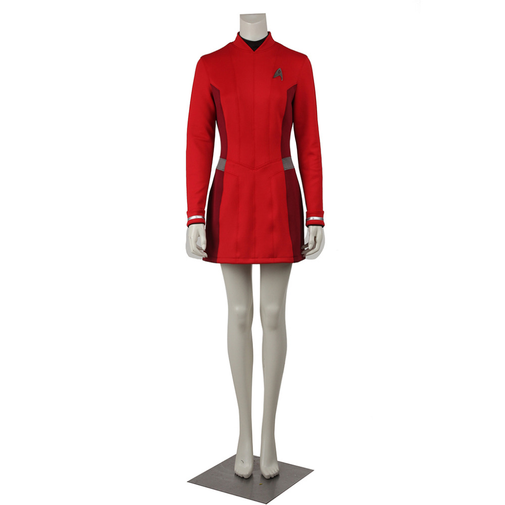 Star Trek Cosplay Star Trek Beyond Nyota Uhura Red Dress Uniform Adult Women's Halloween Carnival Costume Cosplay