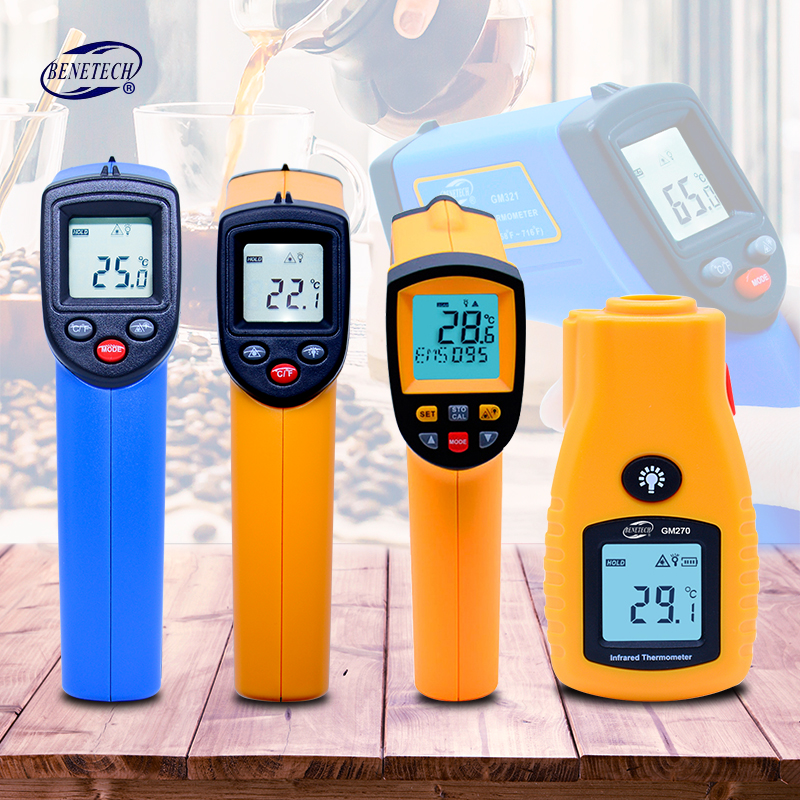 BENETECH GM320~GM900 Digital thermometer gun non contact infrared thermometer temperature gun ir thermometer industrial цена