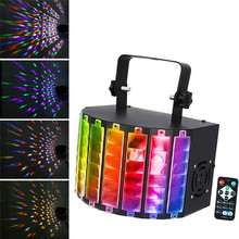 Strobe Light Christmas Sound Activated LED DJ Party Lights Rotating Colorful LED Stage Light Disco Ball Disco Lights 30W DMX512 недорого