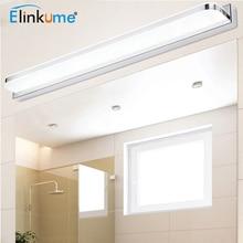 Modern led Mirror Light 7W Bathroom Wall Lamp 42cm Minimalist Bedroom Wandlamp Acrylic Stainless steel Home Decor Fixtures