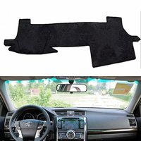 For Toyota Mark X 2010 2011 2012 2013 2014 2015 2016 2017 Flannel Dashmat Dashboard Covers Dash Pad Mat Carpet Car styling