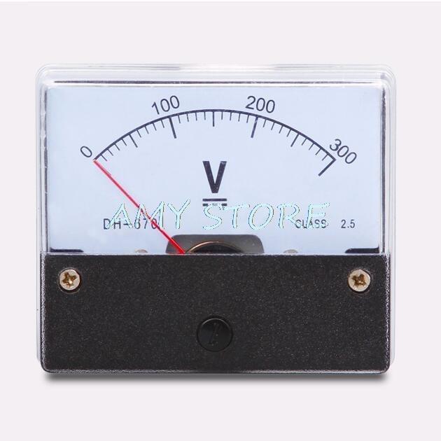 AC 0-300V Class 2.5 Dial Analog Panel Meter Voltmeter Gauge DH-670