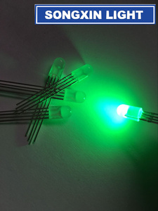 Image 3 - 1000 pcs LED 5mm RGB Diffused LED Common Cathode 4Pins RGB Tri Color Emitting Diodes 5MM RED/GREEN/BLUE led lamp