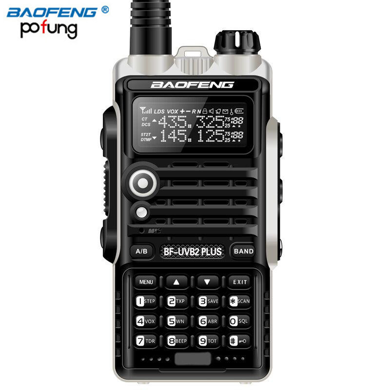 BF-UVB2 Plus Walkie Talkie Baofeng 8 W De Alta Potência Poderosa walkie talkie 10 km de longo alcance Rádio Em Dois Sentidos Rádio Amador BFUVB2 ALÉM de