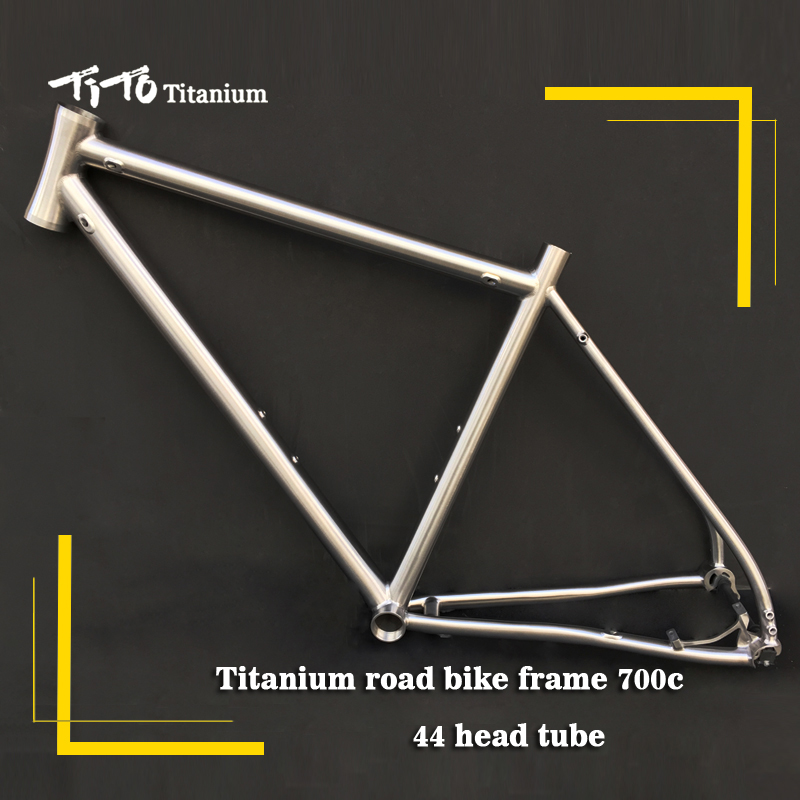 Free shipping !!! TiTo titanium road bike frame 700C titanium 44 tapered head internal shifter housing hidden disc brake bicycle free shipping car refitting dvd frame dvd panel dash kit fascia radio frame audio frame for 2012 kia k3 2din chinese ca1016