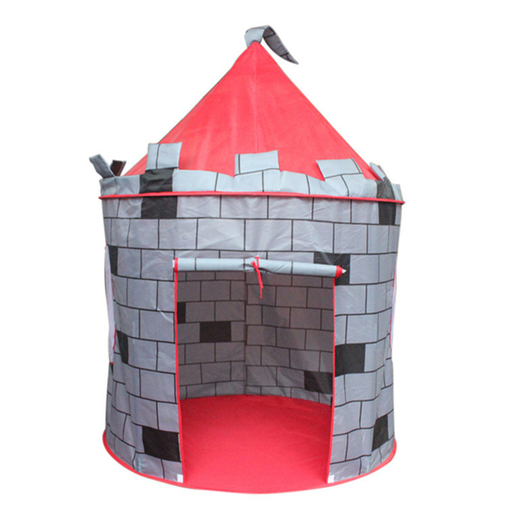 Portable Foldable Tipi Prince Folding Tent Children Castle wall yurts tents Play House Kids Gifts Outdoor Tent parent-child Toy