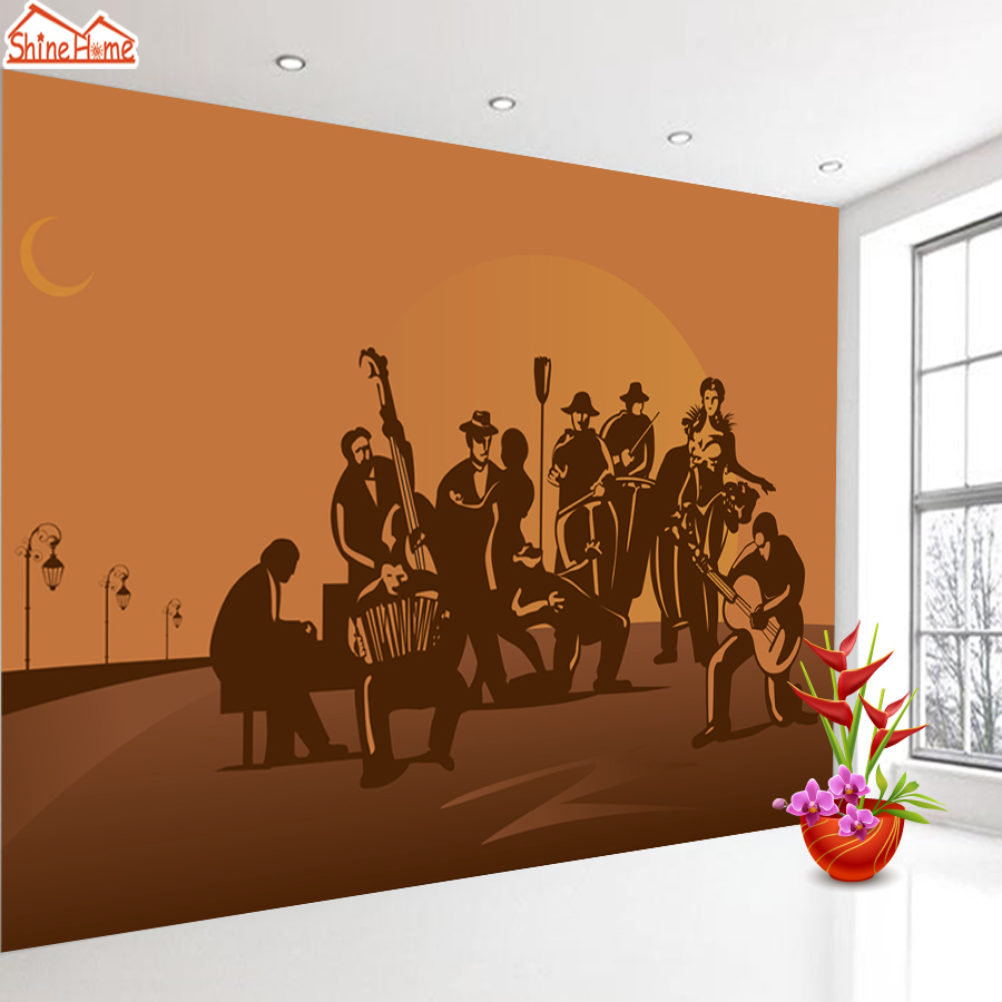 ShineHome-Wall Rock Music Wallpaper for Bedroom Murals Rolls for 3d Walls Wallpapers for 3 d  Living Rooms Room Bar Wall Paper shinehome red rose bloom golden golden wallpaper for 3d rooms walls wallpapers for 3 d living room wall paper murals mural roll