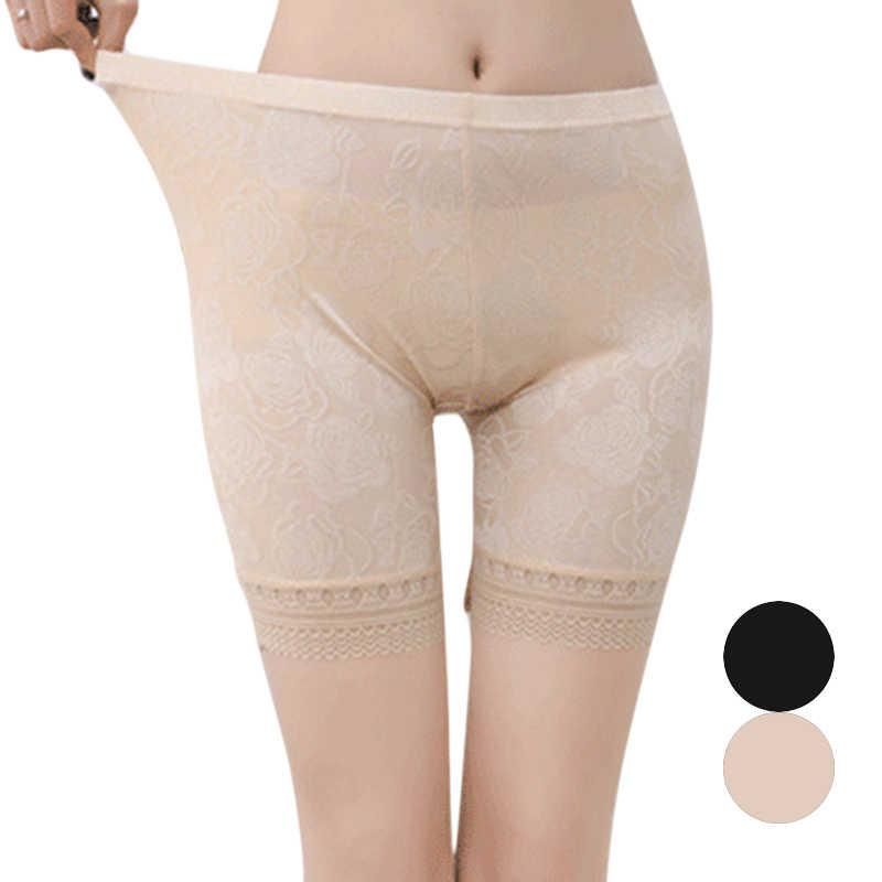 Kobiety Anti pas krótkie spodnie kobiece spodenki z koronki pod spódnica Plus rozmiar bezpieczeństwa szorty dziewczyny komfortowe i bezpieczne bielizna bokserki