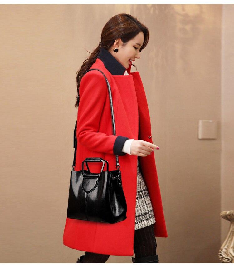 2019 moda feminina médio bolsa de couro