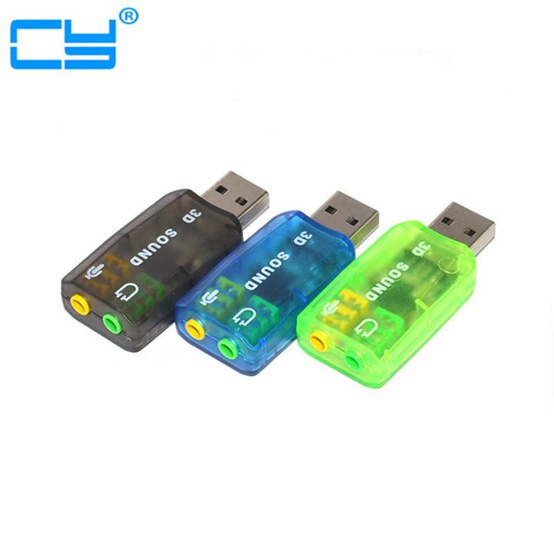 USB-st 3D-heli USB-välise helikaardiadapteri 5.1 kanaliga heli Professionaalne mikrofon 3,5 mm liides De Audio