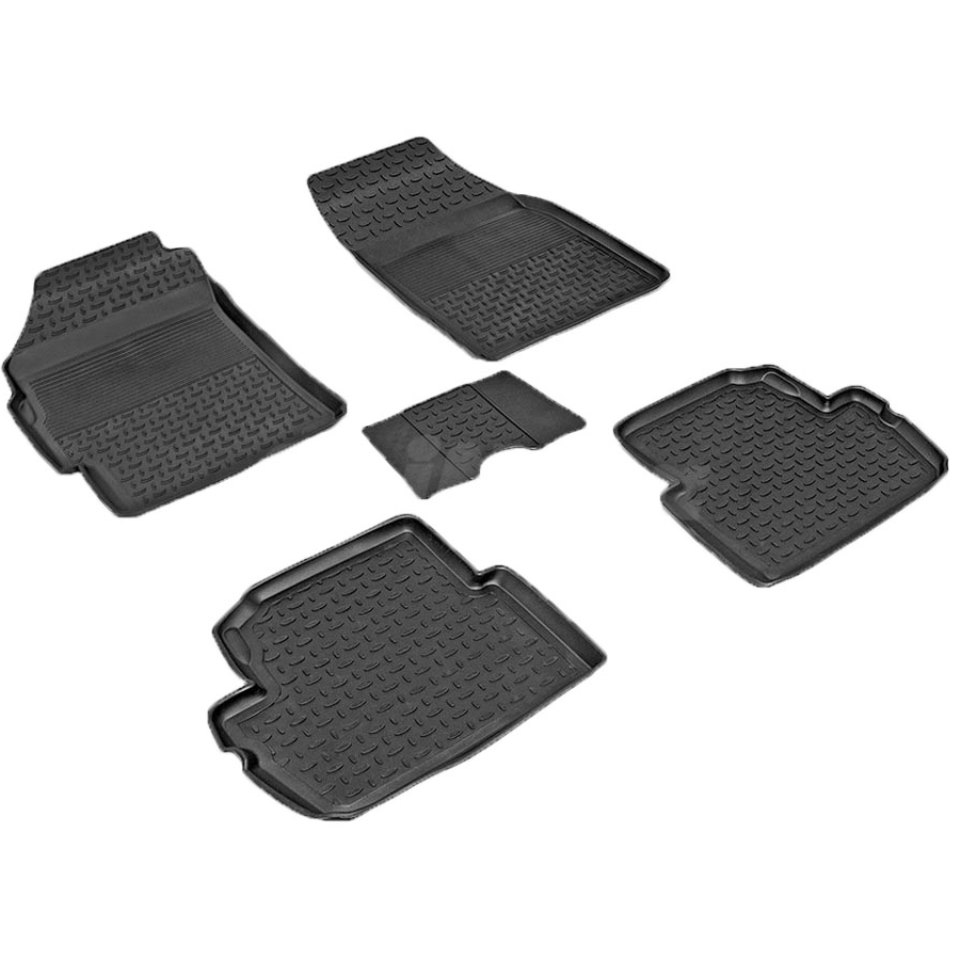 For Ravon R2 2016-2019 rubber floor mats into saloon 5 pcs/set Seintex 83109 for ravon r4 2016 2019 rubber floor mats into saloon 5 pcs set seintex 82910