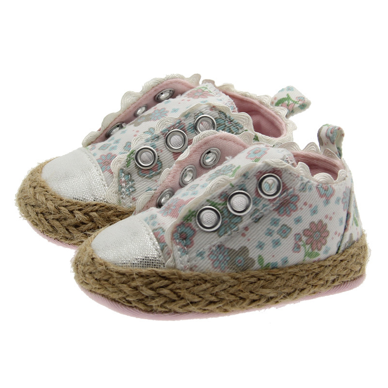 2018 New Baby Girls Casual Shoes Infant Princess First Walkers Soft Bottom Sneakers for Babies
