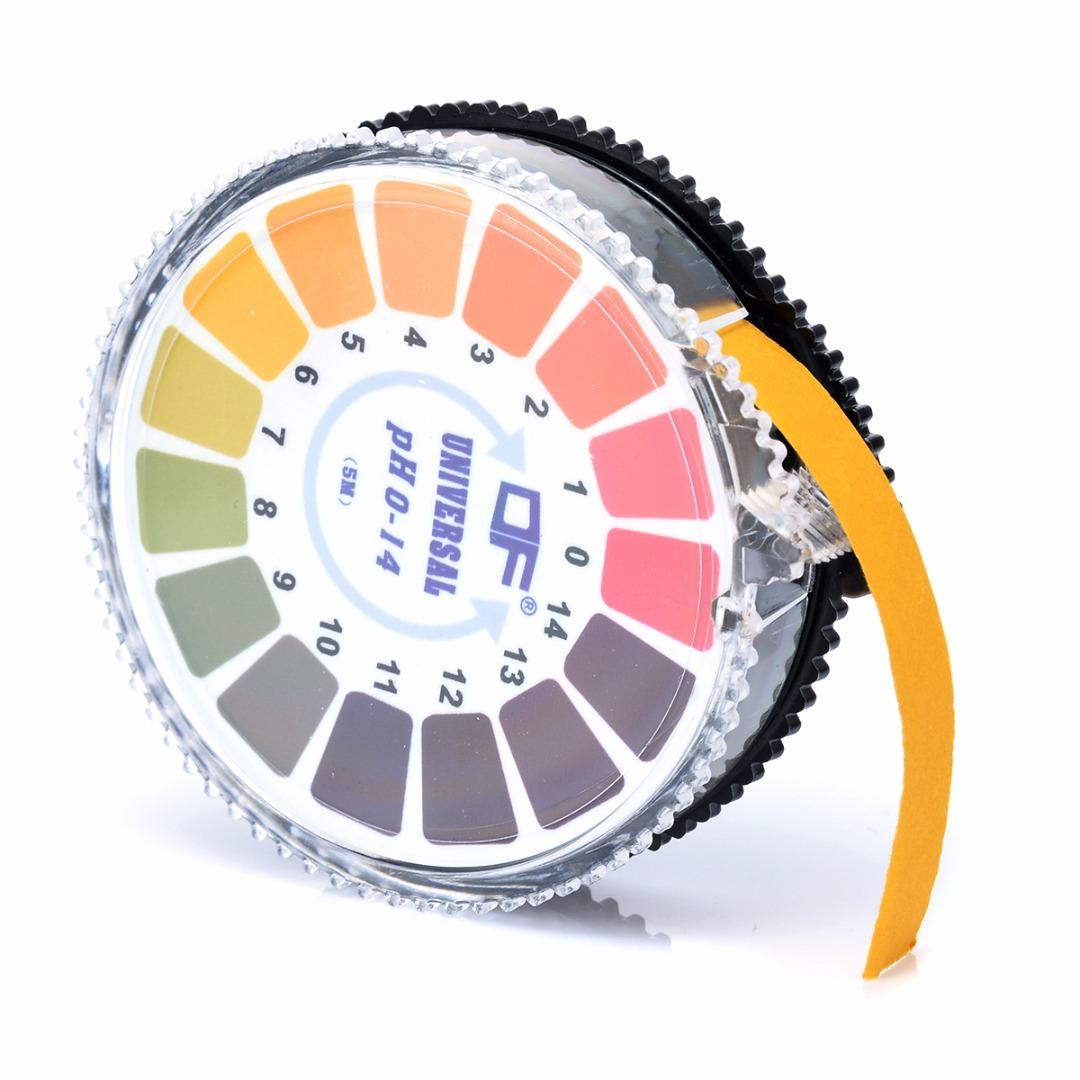 5m 0-14 PH Alkaline Acid Indicator Meter Test Paper Roll For Water Urine Saliva Soil Litmus Accurate Testing Measuring Mayitr