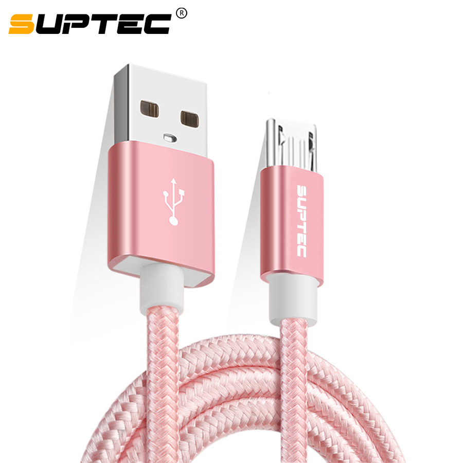 SUPTEC Micro USB Cable, Nylon Fast Charging Data Sync Cable for Samsung A5 J7 S7 S6 Huawei Xiaomi Sony Phone Charger Cord 2M/3M|Mobile Phone Cables|   - AliExpress