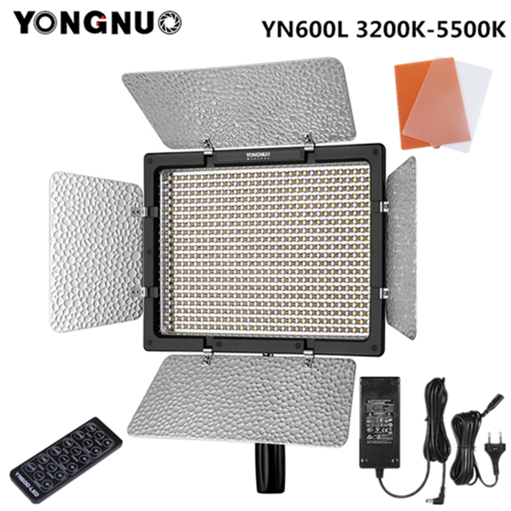 Yongnuo YN600L YN600 L LED Video Light 3200K-5500K  With AC Adapter Set Support Remote Control By Phone App For Interview