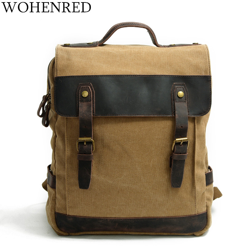 Brand Men's Backpacks Vintage Canvas Schoolbag Student bag Large Capacity Laptop Backpack Casual Travel Rucksack male Bagpack casual student school notebook bag men canvas laptop backpack large computer backpacks male travel rucksack mochila