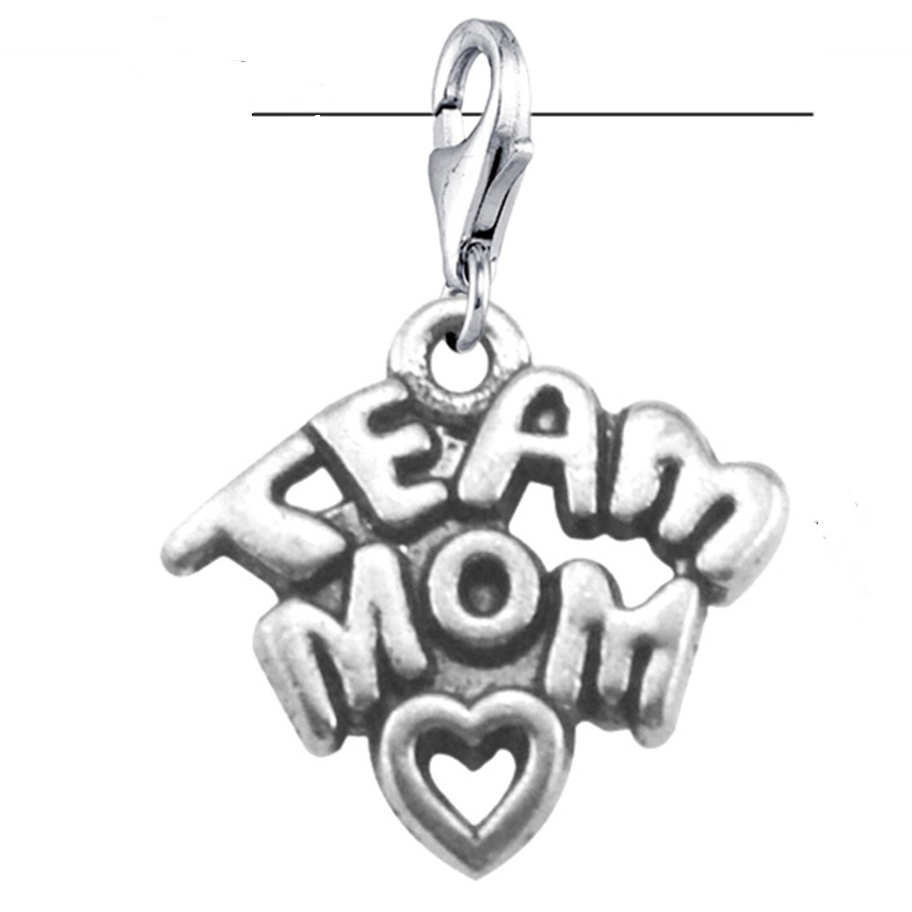 Skyrim 10Pcs/lot Gym Symbol Word Dangle Team Mom Charm