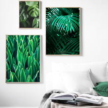 Wall Art Canvas Painting Monstera Palm Leaf Green Nordic Posters And Prints Plants Pictures For Living Room Home Decor