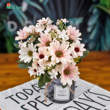 New Factory 30cm  Daisy Artificial Flowers Bouquet 1Pcs 9 Big Head Silk for Crafting Easter Decoration