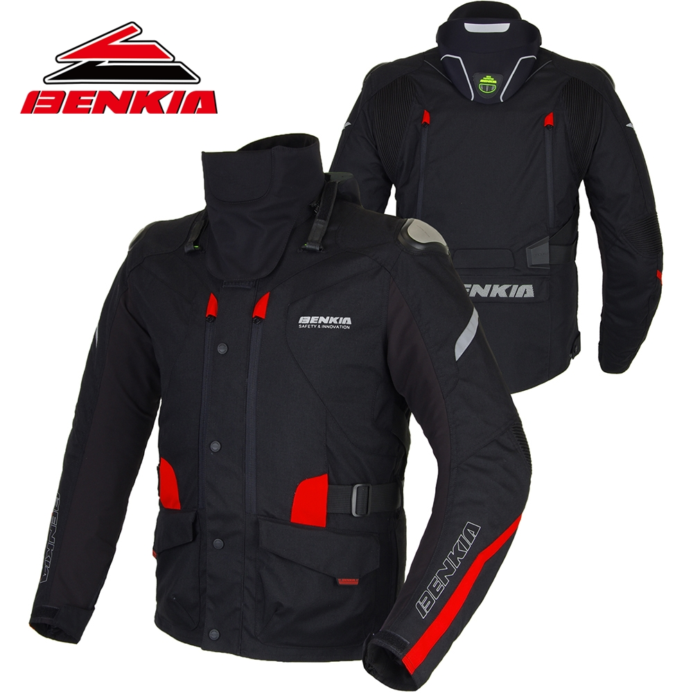 BENKIA Motorcycle Jacket Motorbike Racing Jacket Winter Keep Warm Neck Protective Gear With Detachable Liner Moto Jacket JD10