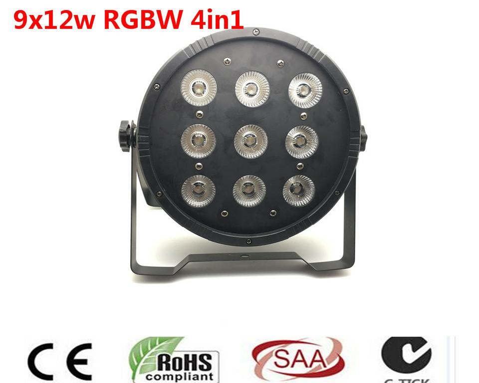 9x12 W RGBW 4IN1 LED Flat Par tri RGBW Color Mixing LED DJ Luz de la Colada Etapa Uplighting KTV DMX512 Disco DJ chauvet dj slim par pro tri