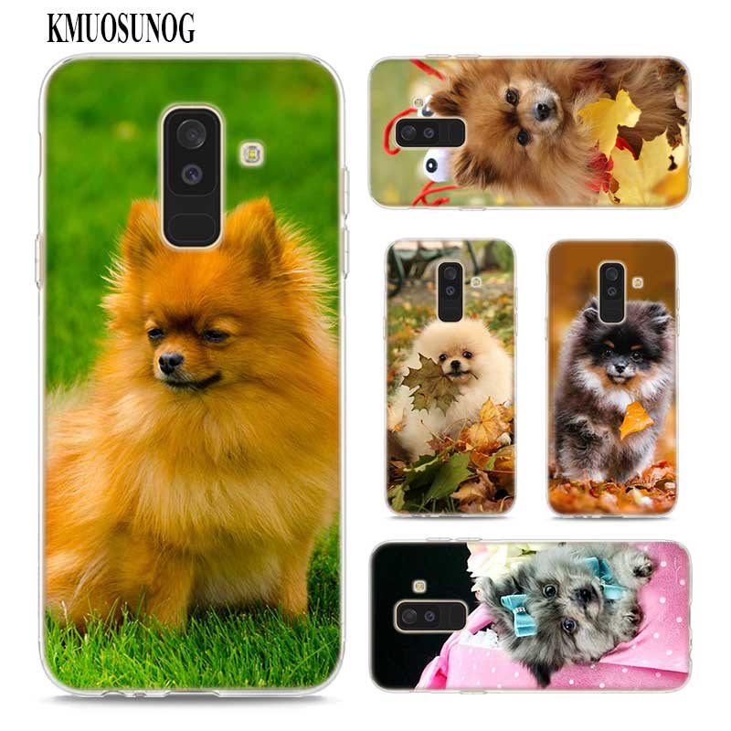 Transparent Soft Silicone <font><b>Phone</b></font> <font><b>Case</b></font> Pomeranian <font><b>dogs</b></font> <font><b>dog</b></font> cute for <font><b>Samsung</b></font> <font><b>Galaxy</b></font> A9 A8 Star A7 A6 A5 <font><b>A3</b></font> Plus 2018 <font><b>2017</b></font> 2016 image