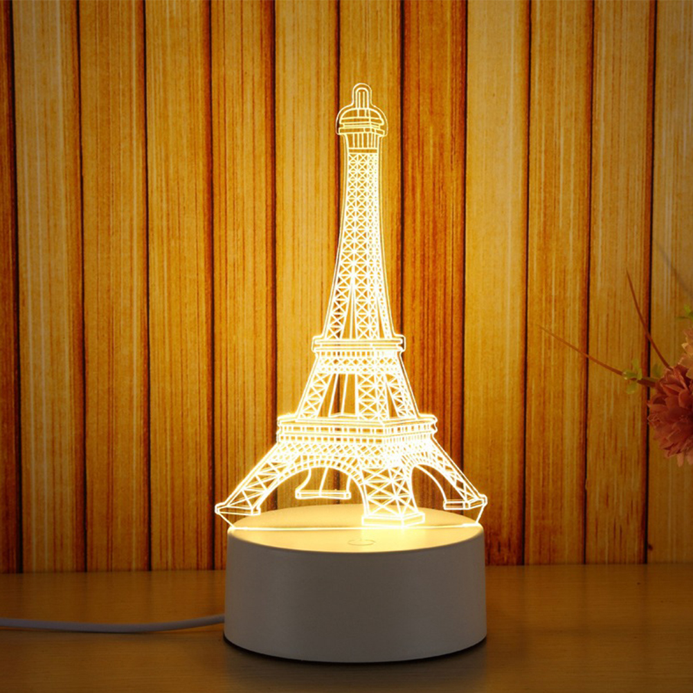 Adeeing Colorful Romantic Eiffel Tower Led Night Light Desk Wedding Valentines Day Bedroom Decorate Lamp Child Gift Zk30 Lights & Lighting