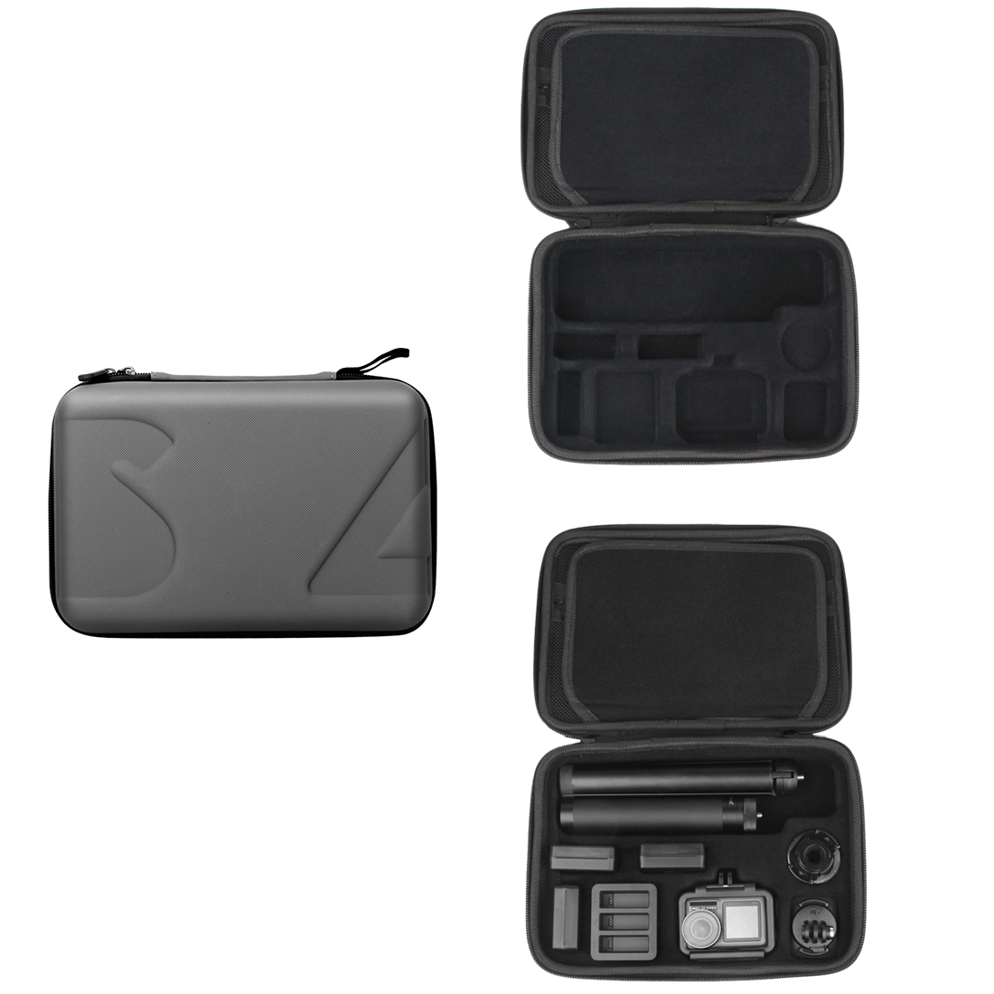 SUNNYLIFE водонепроницаемый чехол для переноски Твердая Сумка для DJI OSMO экшн камеры 4 батареи штатив Дрон сумка аксессуары
