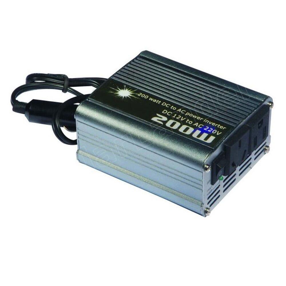 200 Watt Modifizierte Sinuswelle Tragbare Auto Automotive Power Inverter Ladegerät Converter DC 12 V zu AC 220 V spannung transformator